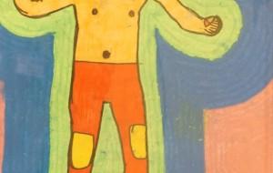 NO71 覆面レスラー_ケンジ&カズヒサ - 第3回鶴ヶ島市立中央図書館 「障がい者アート絵画展」2019