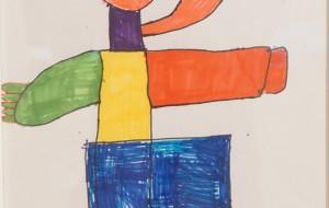 NO74 バレエ_間瀬克人 - 第3回鶴ヶ島市立中央図書館 「障がい者アート絵画展」2019