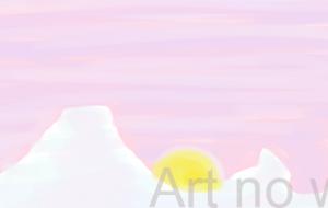 夕の月は卵の光 - 西原永恵