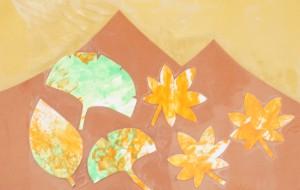 NO63 秋の紅葉_金井嶺 - 第3回鶴ヶ島市立中央図書館 「障がい者アート絵画展」2019