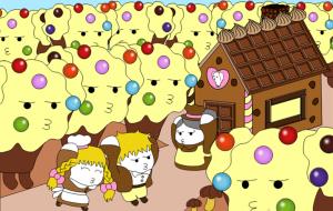 「日本昔話&世界の童話セレクション」2月バレンタインのチョコレートの家~ヘンゼルとグレーテル~ - 子猫