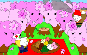 「日本昔話&世界の童話セレクション」4月コマリマの花見~はなさかじいさん~ - 子猫