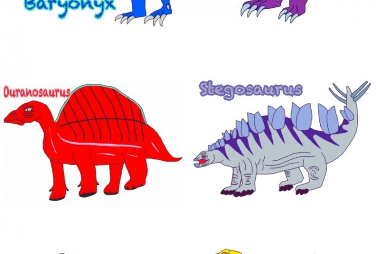 白亜紀の恐竜たち