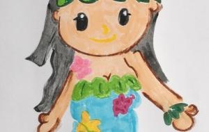 ハワイの女の子 - クルミ