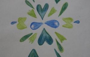 緑色の花 - 夏みかん
