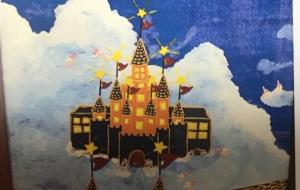 ゾウの妖精達の魔法学校(水彩画) - のっち
