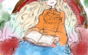 本を読む少女 - かろ