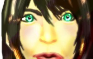 緑色の目をしたアヒル口の女 - 道人