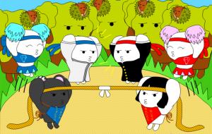 「日本昔話&世界の童話セレクション」9月 あしがら山の運動会~金太郎~ - 子猫