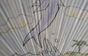 イルカのいるうちわ - おかず