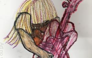 ギターを抱えるミュージシャン - daisuke