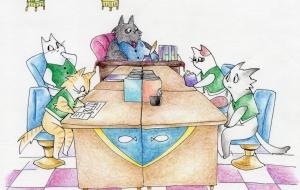 猫の事務所(宮沢賢治) - はちわれ