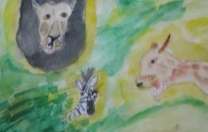 シマウマとライオン - マサミ
