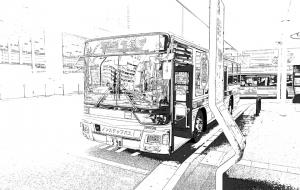 アメコミ風なバス - 流浪流転の旅人⑨なかさん★