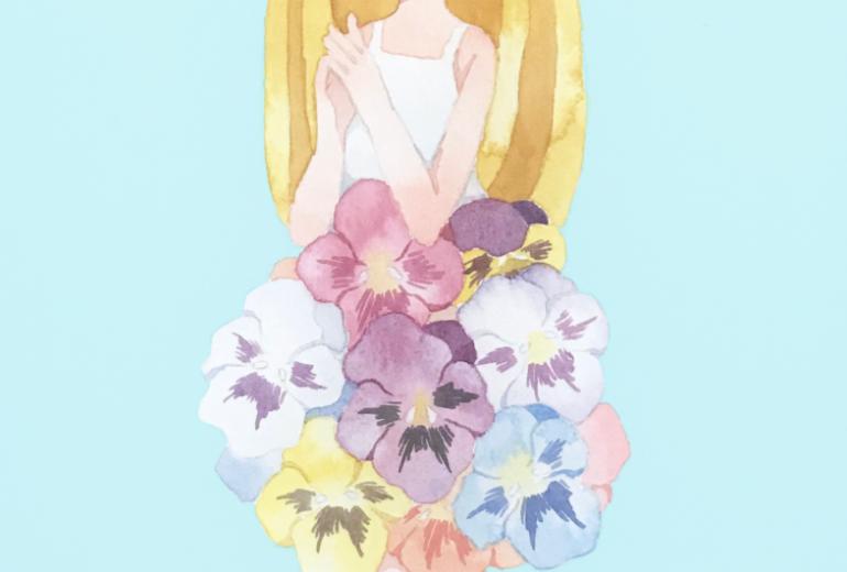 お花のドレス