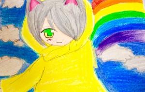 レインコートと虹 - 水樹