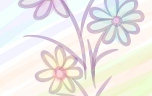 3色の花 - 西原永恵