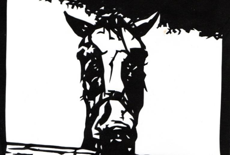 馬の切り絵 - 小林葉子