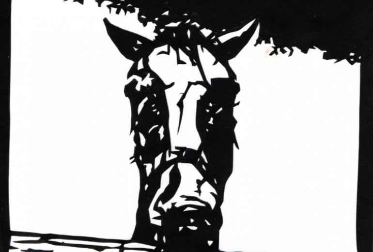 馬の切り絵