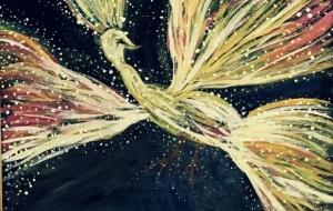 ファンタジー ~ 夜空に輝く鳥 ~ - 一里