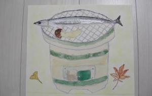 七輪と秋刀魚 - KEISUKE