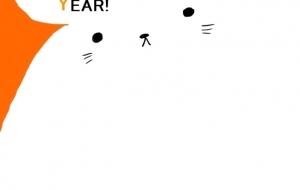 シンプル:ネットスクウェア2020年賀状 - キナコモチコ