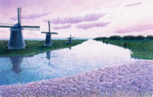 風車とラベンダー - cocoa float