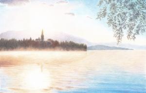 朝焼けの湖 - cocoa float
