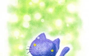夢に浮かぶ黒猫ちゃん - Cano