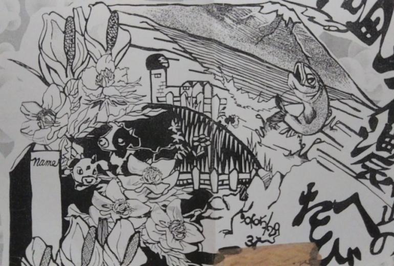 中学生  修学旅行表紙の絵