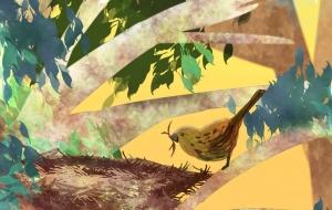 巣作り - 五月ツツジ