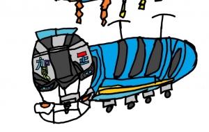 電車としめ飾り:ネットスクウェア年賀状 - mizuki