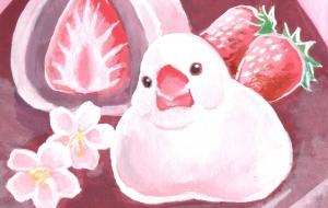 文鳥のいちご大福 - Mika Neichi