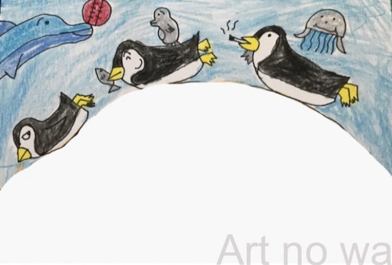 ペンギン&イルカ&クラゲ