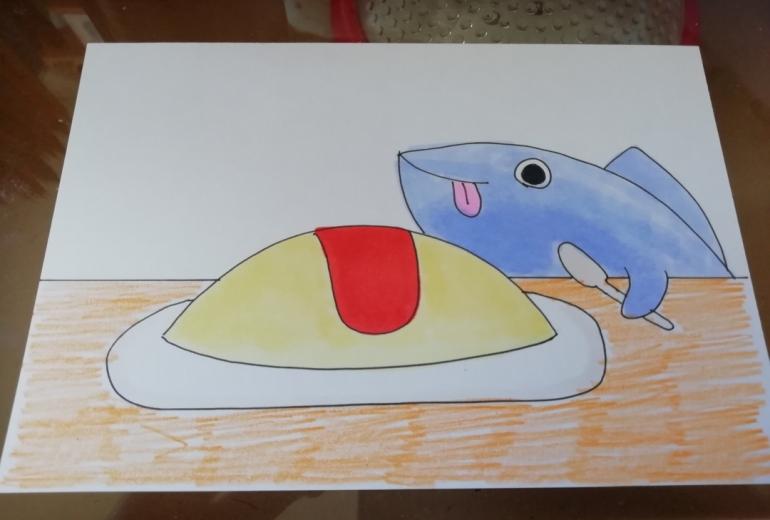 サメとオムライス