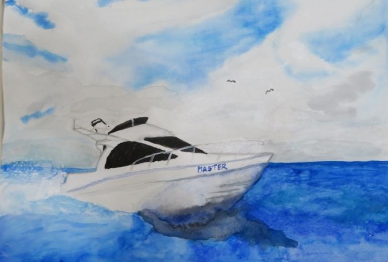 船とカモメ