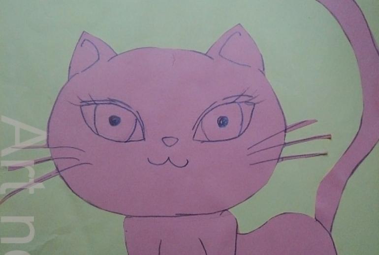 こっち見てる猫。