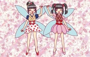 梅の妖精と桜の妖精 - swaro
