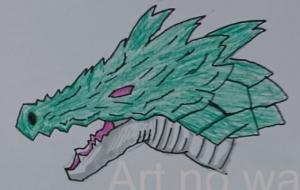 緑ドラゴンの顔 - 池田 旬