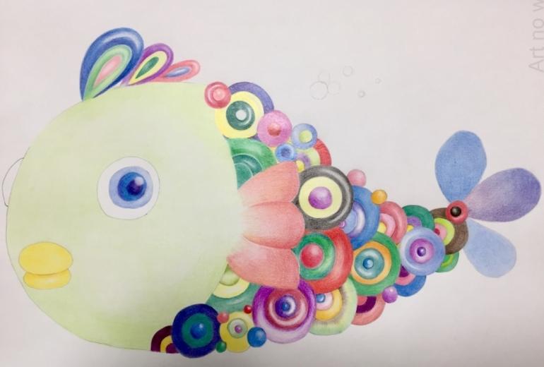 カラフルな鱗の魚