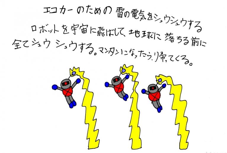 雷の電気収集ロボット - yu-ma