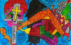 黒い影と十字架と - 田中郷