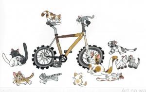 猫たちも集まるマウンテンバイク - SAYAKA