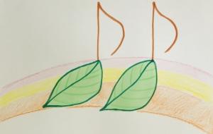 葉っぱの音符 - 一里
