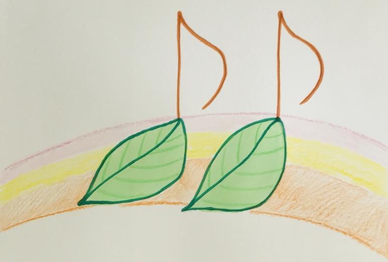 葉っぱの音符