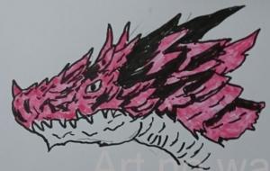 フレイムドラゴンの顔 - 池田 旬