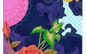 薔薇と百合のカーペット - 虎目梨那
