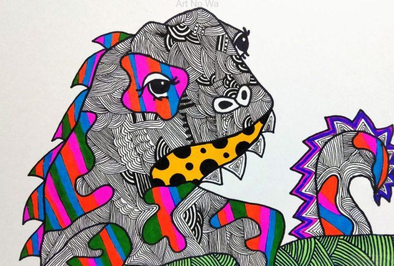 イグアナ「カラフル」