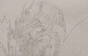 小林皇太 日本画家の狩野芳崖の絵 - 第4回 障がい者アート展