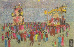 石井章 川越祭り - 第4回 障がい者アート展